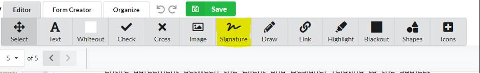 Choose signature feature